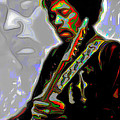 Jimi Hendrix by Fli Art