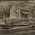 John Oliver Cabin In Cades Cove by John Haldane