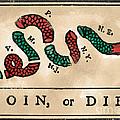 Join Or Die Cartoon 1754 by Benjamin Franklin