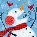 Joyful Snowman by Valerie Drake Lesiak