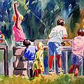 Kids Fishing by Julianne Felton