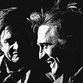 Kirk Douglas Laughing Johnny Cash Old Tucson Arizona 1971 by David Lee Guss