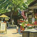 Kirkwood Farmers Market American Flag by Don  Langeneckert