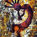 Kokopelli The Flute Player by Barbara Snyder