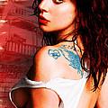 Lady Gaga Blue Tattoo by Tony Rubino