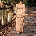 Lady In Regency Dress Walking by Jill Battaglia