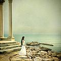Lady In White By The Sea by Jill Battaglia