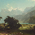 Lake Lucerne by Albert Bierstadt