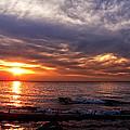 Lake Superior Sunset by Lars Lentz