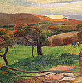 Landscape From Bretagne by Paul Gauguin