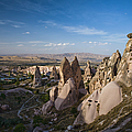 Landscape Of Tufa Soft Rock Formed From by Tim Gerard Barker