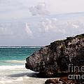 Large Boulder On A Caribbean Beach by Jannis Werner