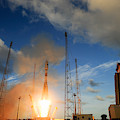 Launch Of Soyuz Vs07 2014 by Science Source