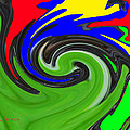 Leaf And Color Abstract by Tom Janca