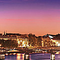 Left Bank At Night / Paris by Barry O Carroll
