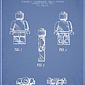 Lego Toy Figure Patent - Light Blue by Aged Pixel