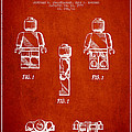 Lego Toy Figure Patent - Red by Aged Pixel