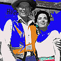 Leif Erickson Linda Cristal The High Chaparral Set Publicity Photo Old Tucson Arizona C. 1967-2012 by David Lee Guss