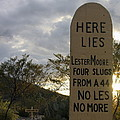 Lester Moore Grave Boothill Cemetery Tombstone Arizona 2004 by David Lee Guss