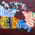 License Plate Map Of Canada by Design Turnpike