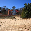 Lighthouse - 40 Mile Point Michigan by Frank Romeo
