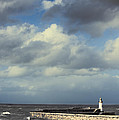 Lighthouse At Whitehaven by Amanda Elwell