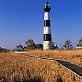 Lighthouse In A Field, Bodie Island by Panoramic Images
