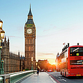 London Big Ben And Traffic On by Sylvain Sonnet