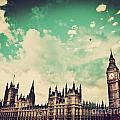 London Uk Big Ben The Palace Of Westminster by Michal Bednarek