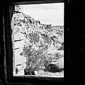 Looking Out Through Window From Interior Of Historic Stone Cabin Built By The Civilian Conservation  by Joe Fox