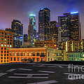 Los Angeles Skyline At Night by Eddie Yerkish