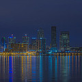 Louisville Kentucky Night Skyline Digital Paint by David Haskett II