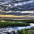 Cloud Reflections Over The Marsh by Dale Powell