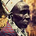 Maasai Old Woman Portrait In Tanzania by Michal Bednarek