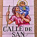 Madrid Street Sign by David Pringle