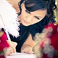 Maid Of Honour Signing Wedding Registar by Jorgo Photography - Wall Art Gallery