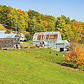 Maine Farm On Side Of Hill In Autumn by Keith Webber Jr