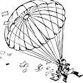 Man Parachuting While Working On His Laptop by Drew Dernavich