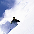 Man Skiing In Colorado by Scott Markewitz