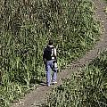 Man With A Canon Camera And Lens In Greenery by Ashish Agarwal