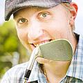Man With Golf Club by Jorgo Photography - Wall Art Gallery