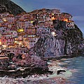 Manarola At Dusk by Guido Borelli