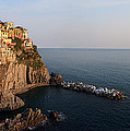 Manarola At Sunset In The Cinque Terre Italy by Matteo Colombo
