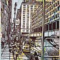 Manhattan On Map by William Cauthern