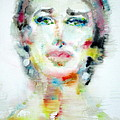 Maria Callas - Watercolor Portrait.2 by Fabrizio Cassetta
