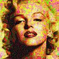 Marilyn Monroe - Maple Leaves by Samuel Majcen