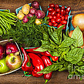 Market Fruits And Vegetables by Elena Elisseeva