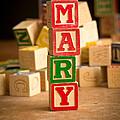 Mary - Alphabet Blocks by Edward Fielding