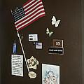 Mary Ann Guss' Patriotic Door Baldwin City Kansas 2002 by David Lee Guss