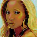Mary J Blige by Fli Art